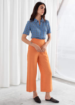 And other stories High Waisted Flared Trousers