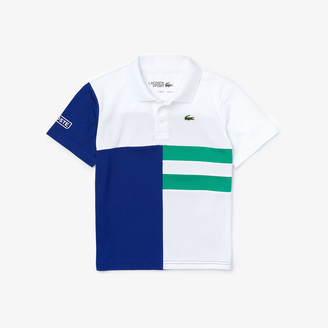 Lacoste Boys' SPORT Colorblock Breathable Pique Tennis Polo Shirt