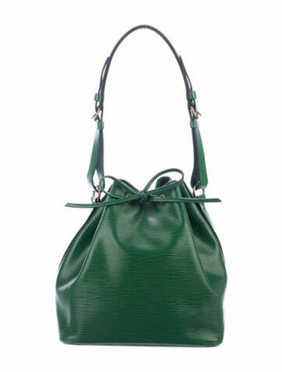Louis Vuitton Vintage Epi Noe Bucket Bag Green