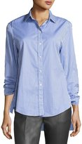 Joseph Thomas Striped Button-Front Tie-Cuff Shirt