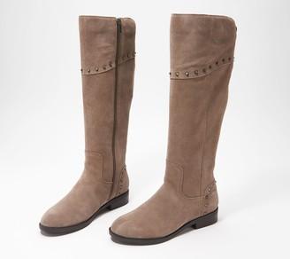 Marc Fisher Medium Calf Studded Tall Shaft Boots - Secalm