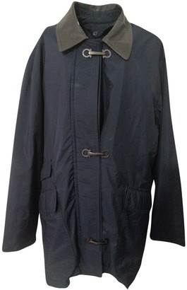 Salvatore Ferragamo Blue Cotton Jackets