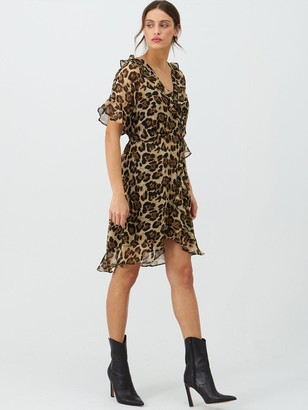Very Soft Kimono Tea Dress - Leopard Print