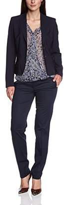 Rene Lezard Women's Reverse Collar Long - regularBlazer - - 8