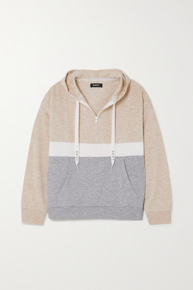 DKNY Color-block Stretch-jersey Hoodie - Neutral