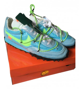 Nike x Off-White Waffle Racer Blue Rubber Trainers