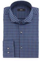 HUGO BOSS Jason Slim-Fit Mini-Gingham Dress Shirt, Blue