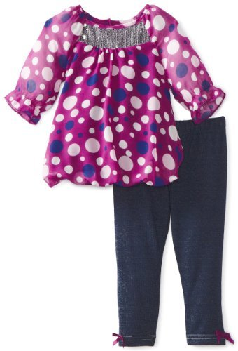 Little Lass Baby-Girls Infant 2 Piece Multi Legging Set