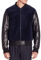 Ovadia & Sons Shearling Bomber Jacket