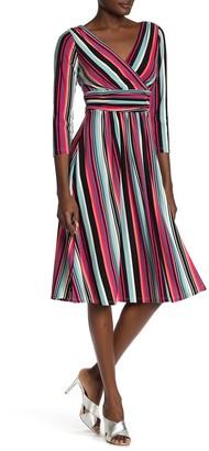 London Times Multi Striped Dress