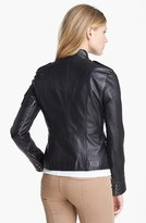 Tory Burch Crop Leather Jacket