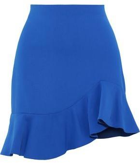Alice + Olivia Marcella Ruffled Crepe Mini Skirt