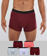 Asos Trunks In Multi Colours With Black Waistband 5 Pack