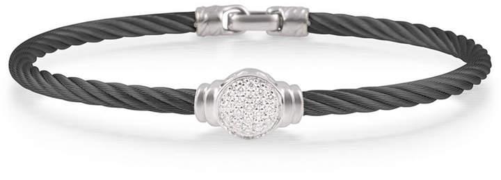 Alor Round Pave Diamond Cable Bracelet, Black