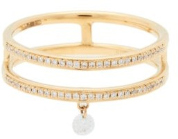 PERSÉE Zeus Diamond & 18kt Gold Double Ring - Yellow Gold