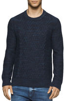 Calvin Klein Jeans Space Dyed Cable Crew Sweater