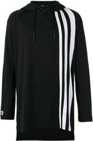 Y-3 striped detail hoodie - men - Cotton - M