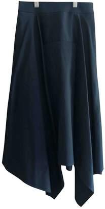 Palmer Harding Navy Cotton Skirt for Women
