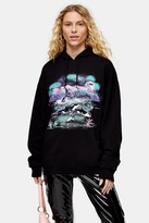 Topshop Whale Graphic Hoodie