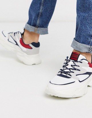 Jack and Jones trainers with chunky sole and contrast panels