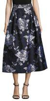 ABS by Allen Schwartz Floral Jacquard Midi Skirt
