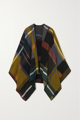 HOLZWEILER + Net Sustain Checked Wool And Cashmere-blend Wrap - Black