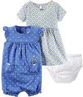 Carter's Baby Girl Tile Dress & Polka-Dot Sunsuit Set