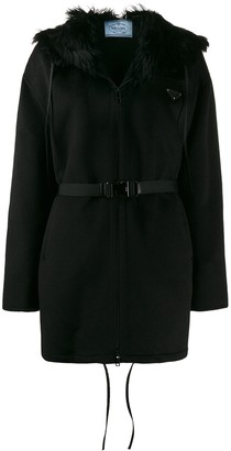 Prada hooded buckle zip-up jacket