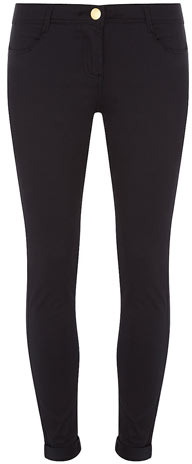 Dorothy Perkins Navy cotton sateen trousers