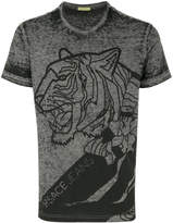 Versace distressed logo print T-shirt