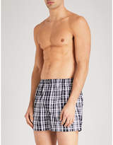 Polo Ralph Lauren Mens Navy Blue Breathable Pack Of Three Relaxed-Fit Woven Cotton Boxers