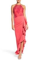 Badgley Mischka Women's Ruffle Gown