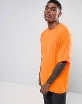 Granted Oversized T-shirt In Neon Orange