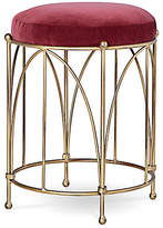One Kings Lane Agras Stool - Currant Velvet