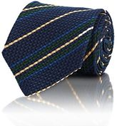 Drakes Drake's DRAKE'S MEN'S STRIPED NECKTIE-NAVY