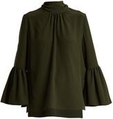Fendi Neck-tie silk crepe de Chine blouse