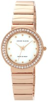 Anne Klein Crystal Bezel Bracelet Watch, 30mm