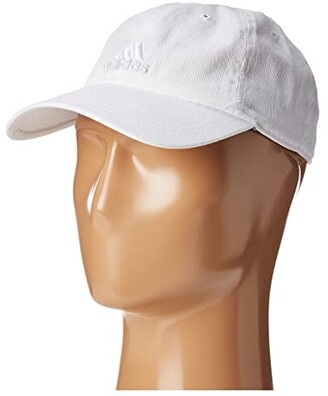 adidas Saturday Cap (White/White) Caps