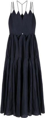 Litkovskaya Flared Skirt Maxi Dress