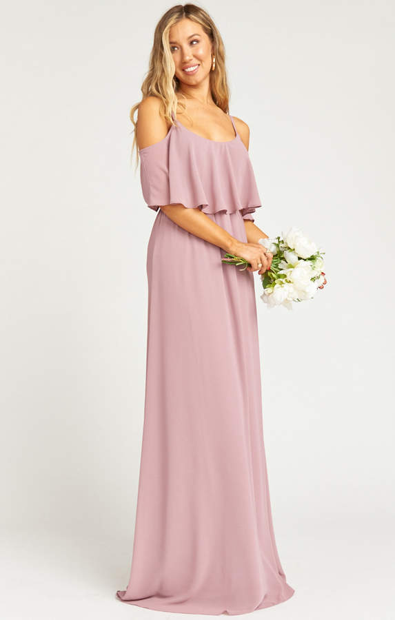 Show Me Your Mumu Caitlin Ruffle Maxi Dress ~ Antique Rose Chiffon