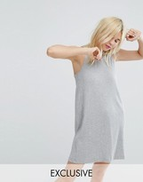 Monki Sleeveless Ribbed Mini Dress