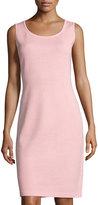 St. John Santana Scoop-Neck Knit Tank Dress, Pink