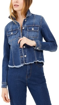INC International Concepts Inc Destructed Trucker Jean Jacket, Created for Macy's
