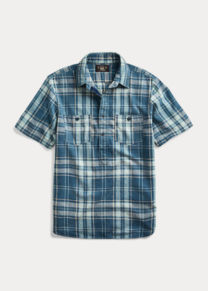 Ralph Lauren Indigo Plaid Popover Shirt