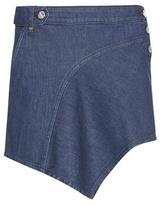 Anthony Vaccarello Asymmetric Denim Miniskirt