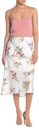 Material Girl Floral Midi Slip Skirt