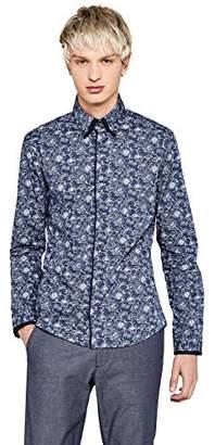 """find. Slim Fit Floral Printed Dress Shirt,Large (Size: 15.5"""")"""