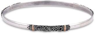 Samuel B. Sterling Silver & 18K Yellow Gold Balinese Scrollwork Bangle Bracelet