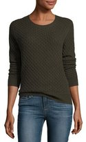 Paige Estelle Cable-Knit Sweater, Army
