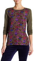 Joe Fresh Long Sleeve Floral Blouse